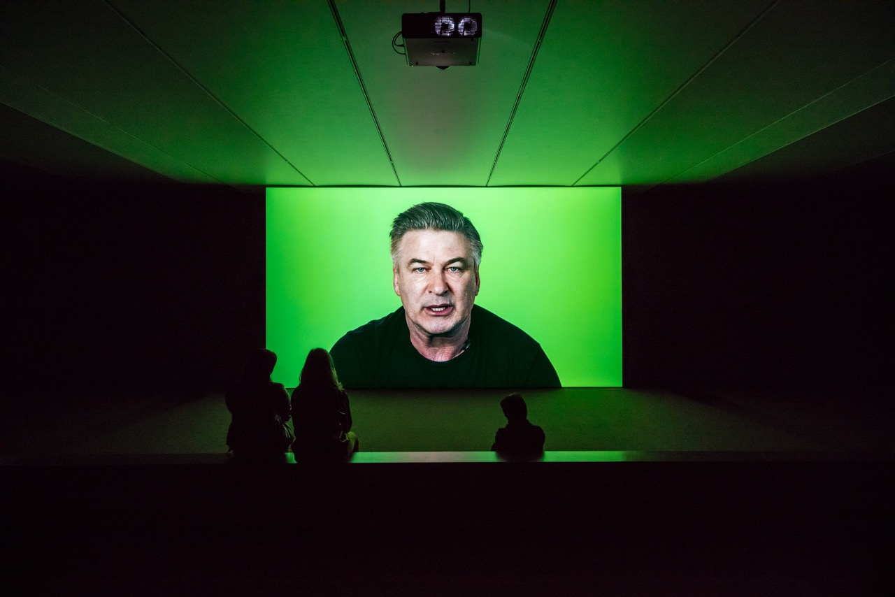 Candice Breitz Love Story, 2016 Featuring Alec Baldwin and Julianne Moore. 7-Channel Installation: 7 Hard Drives Commissioned by the National Gallery of Victoria (Melbourne), Outset Germany (Berlin) + Medienboard Berlin-Brandenburg. Installation View: Kunstmuseum Stuttgart Photograph: Die Arge Lola